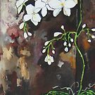 Orchid Delight in White by Deborah Glasgow