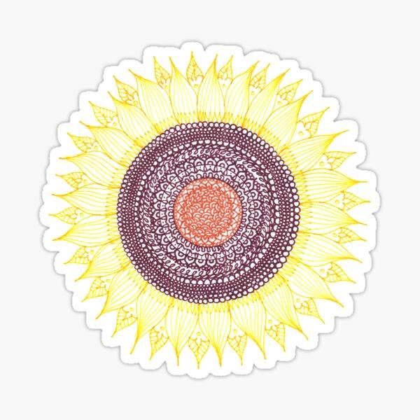Sunflower Zentangle Sticker