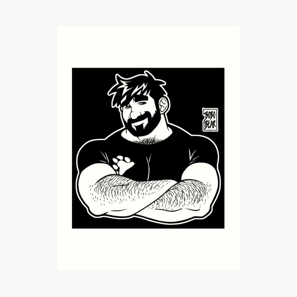 ADAM LIKES CROSSING ARMS - LINEART Art Print