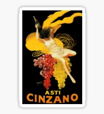 Vintage Wine Poster Paris Sticker