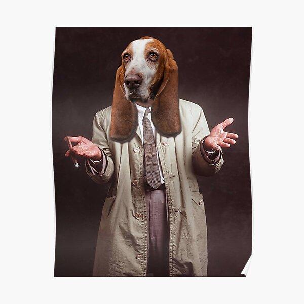 Columbo's dog Basset Hound  Poster