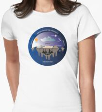 Ancient Flat Earth Cosmology Women's Fitted T-Shirt