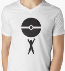 Goku pokeball spirit bomb Men's V-Neck T-Shirt