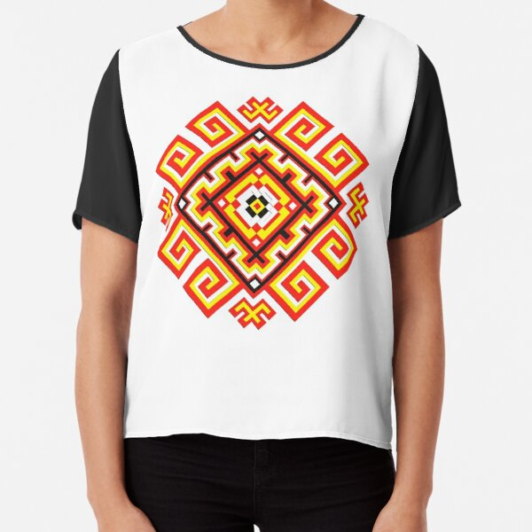 ethnic ornament Chiffon Top