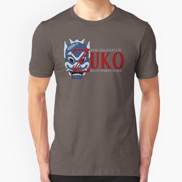 The Legend of Zuko - Blue Spirit Mask Slim Fit T-Shirt