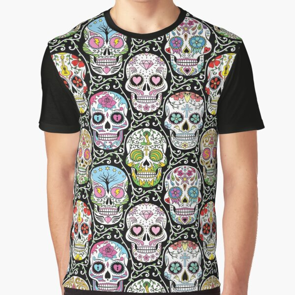 Mexican Skull Pattern Graphic T-Shirt