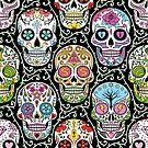 Mexican Skull Pattern T Shirt by Fangpunk