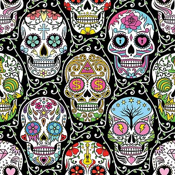 Mexican Skull Pattern by Fangpunk