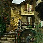 The Gardener, Prades,Pyrenees Orientales by Mike Glaysher