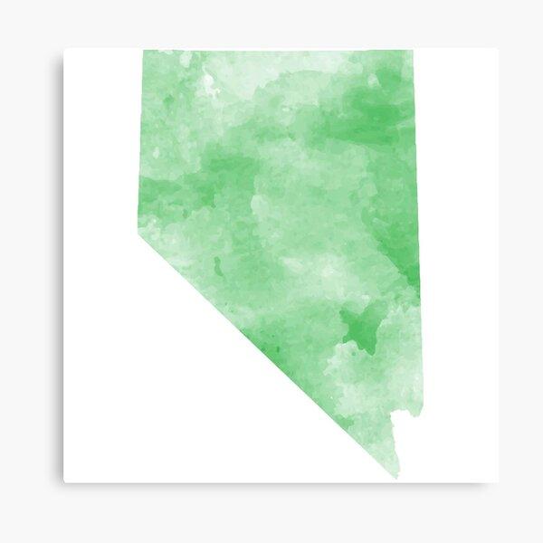Green Watercolor Nevada Canvas Print