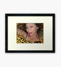 Covered in Gold Framed Print
