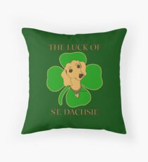 Saint Patrick's ST. DACHSIE Irish shirt by ScottyGaaDo  Throw Pillow