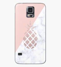 Rose Gold Glitter Ananas Hülle & Klebefolie für Samsung Galaxy
