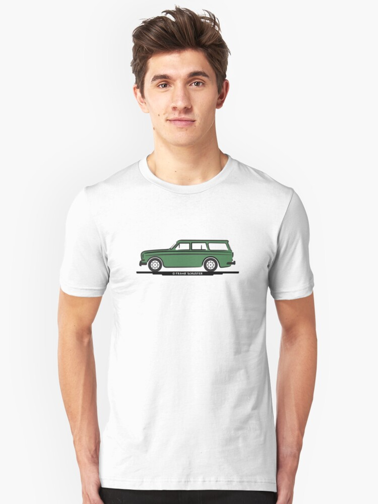 Volvo Amazon Station Wagon Kombi Green for White Shirts by Frank Schuster