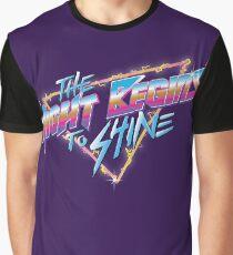 Die Nacht beginnt zu leuchten Grafik T-Shirt