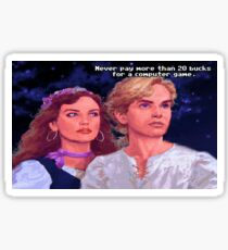 Monkey Island: Never pay more than $20 for a computer game Sticker