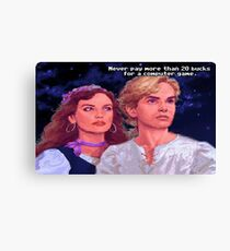 Monkey Island: Never pay more than $20 for a computer game Canvas Print