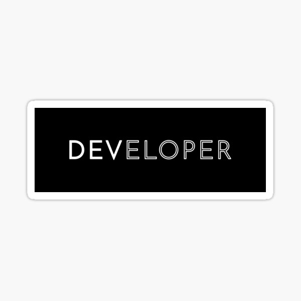 Developer Sticker