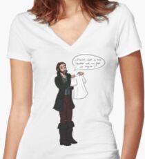 Sleepy Swag Women's Fitted V-Neck T-Shirt