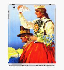 Greetings from Riga, Latvia, railway travel, vintage poster iPad Case/Skin