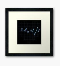 Whovian Heartbeat Framed Print