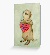 Valentines: Significant Otter Greeting Card
