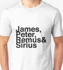 James, Remus, Sirius & Peter Unisex T-Shirt