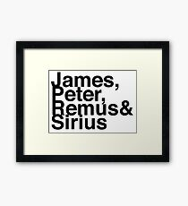 James, Remus, Sirius & Peter Framed Print