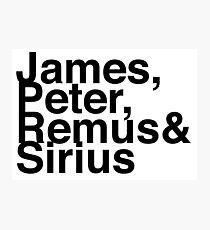 James, Remus, Sirius & Peter Photographic Print