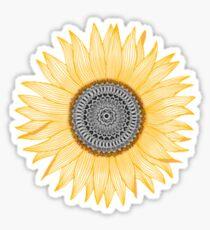 Pegatina Sunflower Mandala xs