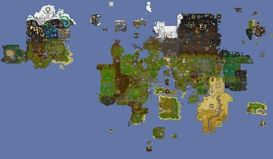 Old Runescape World Map.Oldschool Runescape World Map Posters By Ragsmaroon Redbubble