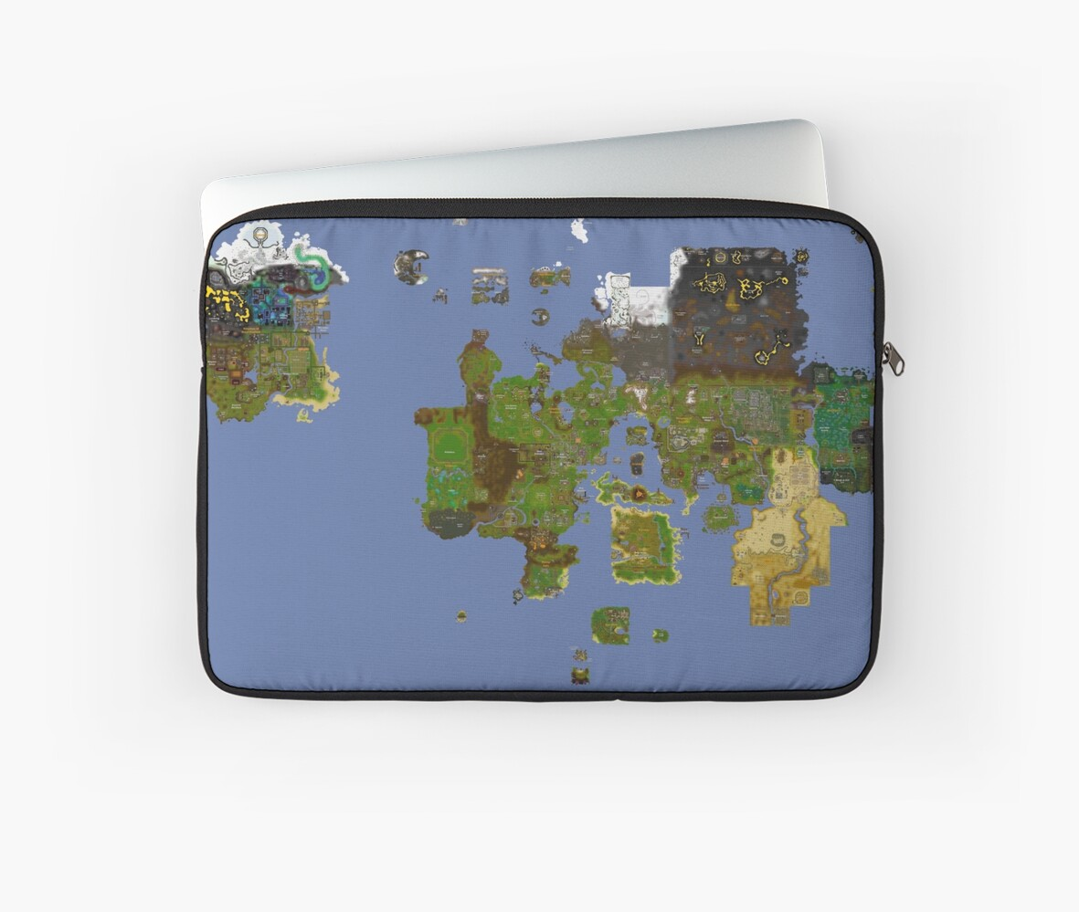 Old Runescape World Map.Oldschool Runescape World Map Laptop Sleeves By Ragsmaroon Redbubble