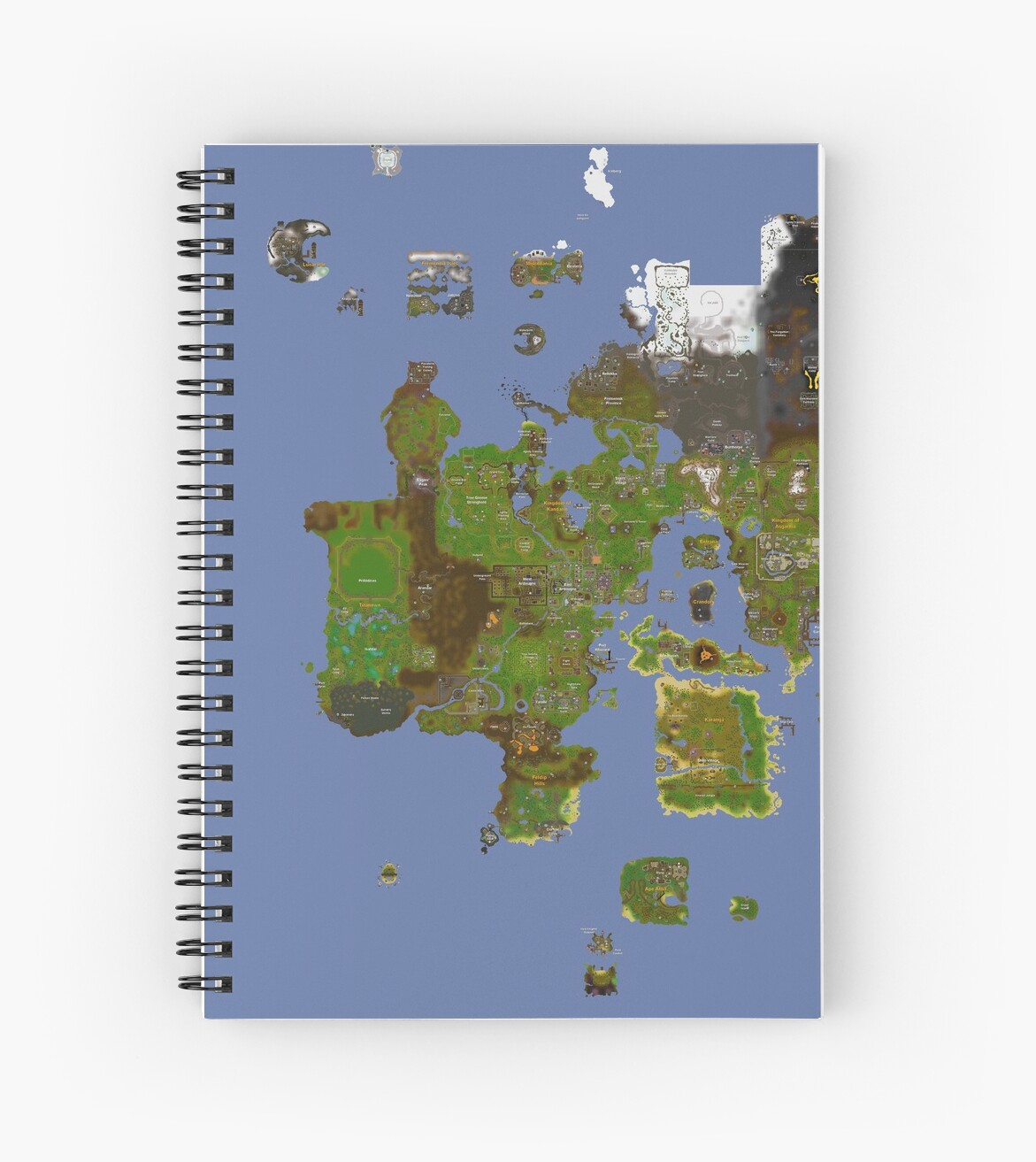 Oldschool runescape world map spiral notebooks by ragsmaroon oldschool runescape world map by ragsmaroon gumiabroncs Choice Image