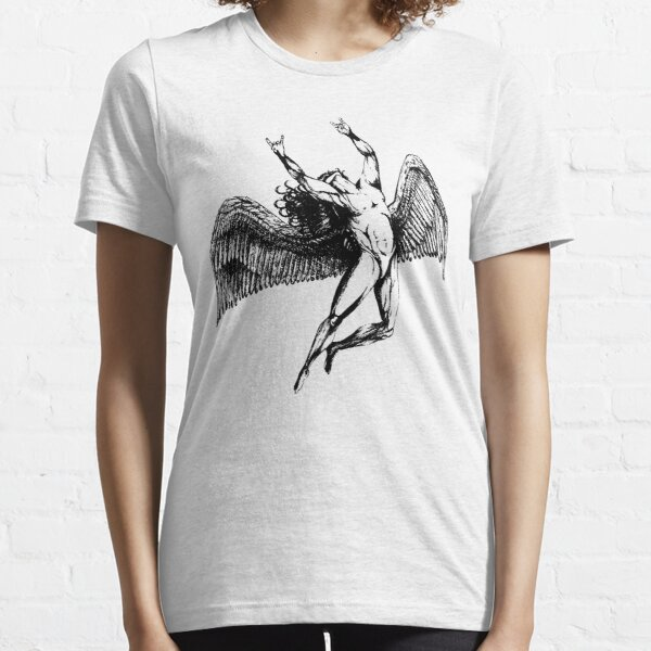ICARUS THROWS THE HORNS - black ***FAV ICARUS GONE? SEE BELOW*** Essential T-Shirt