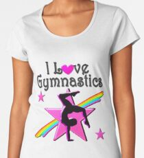 INSPIRATIONAL I LOVE GYMNASTICS DESIGN Women's Premium T-Shirt