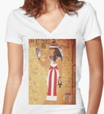 Egyptian Discovery Women's Fitted V-Neck T-Shirt