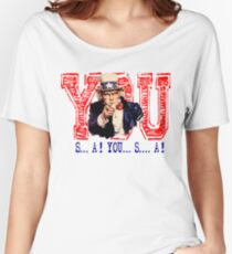 USA Patriotic Uncle Sam Victory Chant Women's Relaxed Fit T-Shirt