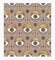 Gold Eyes Pattern Photographic Print