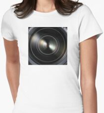 Canon DSLR Camera EOS Lens Women's Fitted T-Shirt