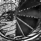 Spiral Staircase of the 'Elevador de santa Justa' by Stephen Knowles