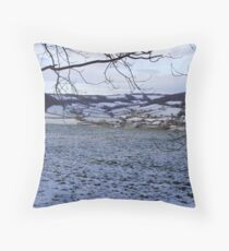 scenic winter Otter valley Throw Pillow
