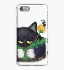 Dandelion Clump and Kitten iPhone Case/Skin
