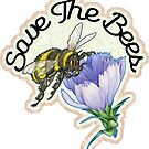 SAVE THE BEES HONEY FLOWERS NATURE FOOD HEALTH OUTDOORS ENVIRONMENT by MyHandmadeSigns