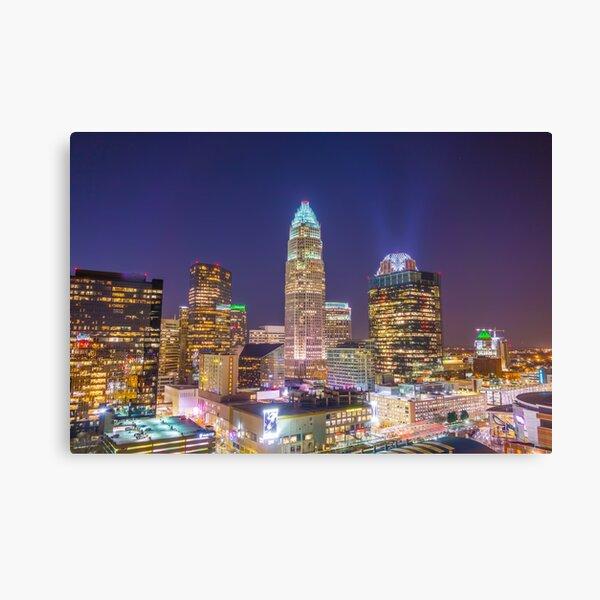 charlotte skyline aerial Canvas Print