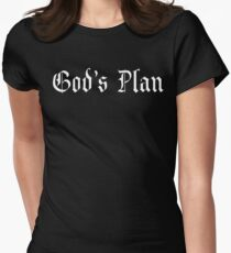 God's Plan font 2 Women's Fitted T-Shirt