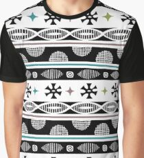 cheerful black Graphic T-Shirt