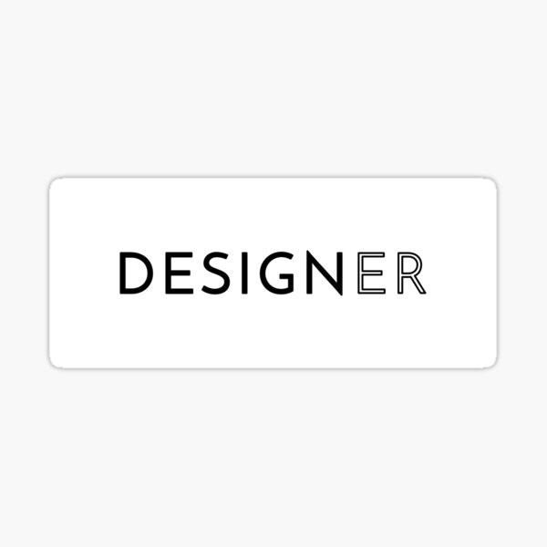 Designer (Inverted) Sticker