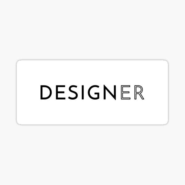 Designer (Inverted) Sticker