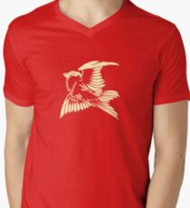 Bird in Flight. Vintage artwork Men's V-Neck T-Shirt