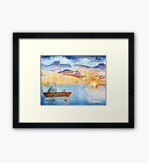 Chinchilla on a lake Framed Print